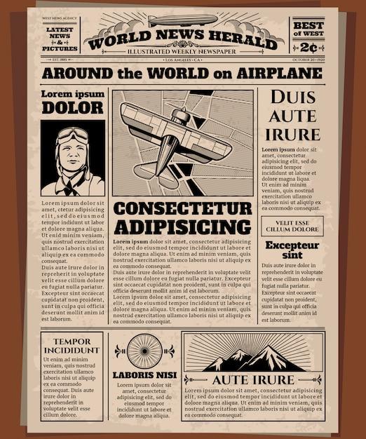 Old newspaper Premium Vector