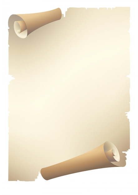 Old paper scroll banner Vector | Premium Download