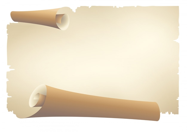 Старая бумага прокрутки баннеров Premium векторы