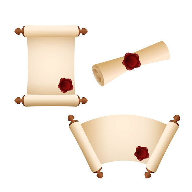 Old parchment paper scroll Free Vector