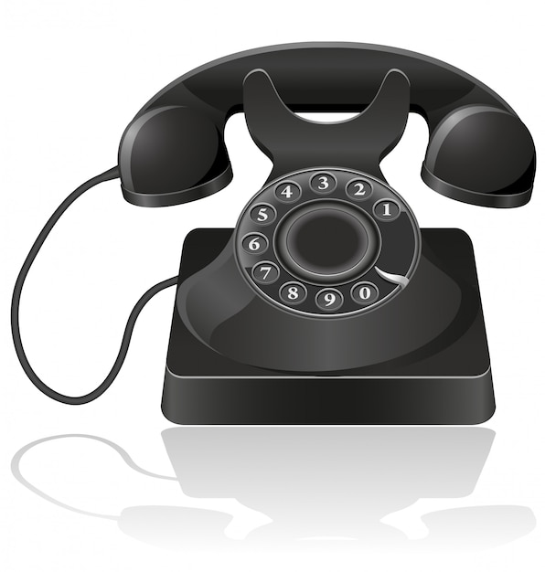 Old phone. Premium Vector
