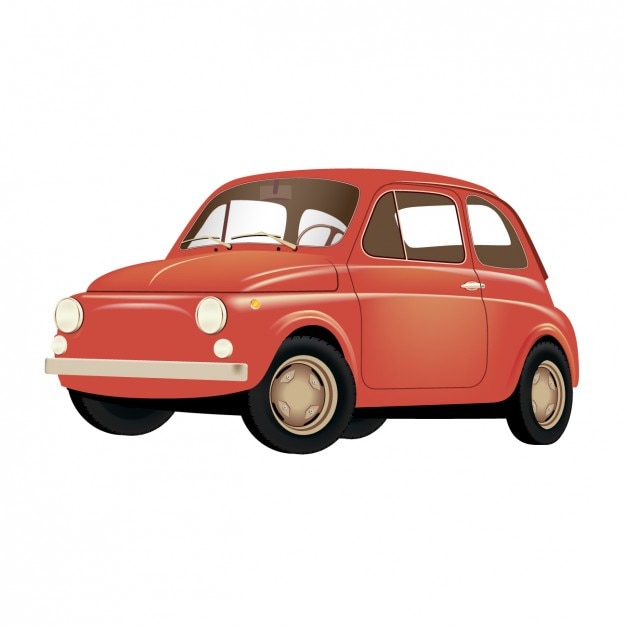 Old red car Vector  Free Download