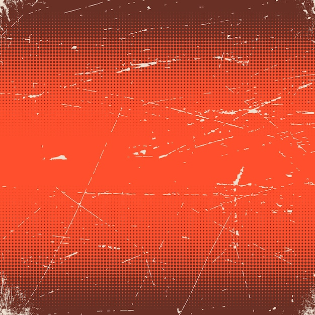 Old red scratched with halftone gradient Premium Vector