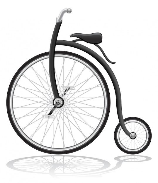 Old retro bike vector illustration Premium Vector
