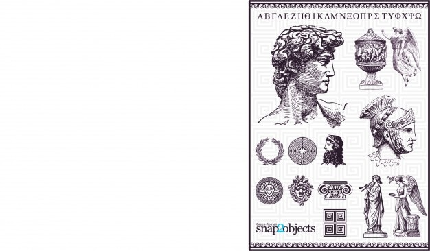 Old rome vector elements Free Vector