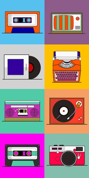 Old school device vector Free Vector