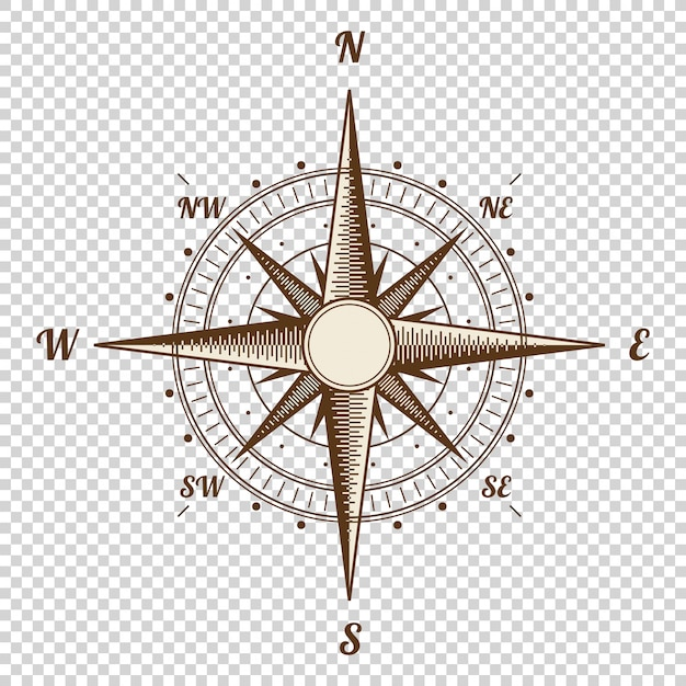 Old style vector compass Premium Vector