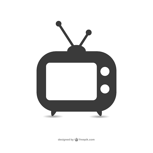 Old television set icon Free Vector