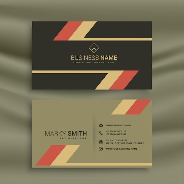 Old theme business card in retro style Free Vector