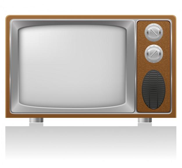 Old tv vector illustration Premium Vector