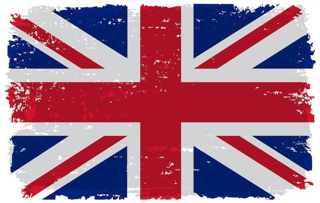 古いイギリスの旗 Premiumベクター