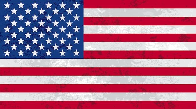 古いアメリカの旗 Premiumベクター