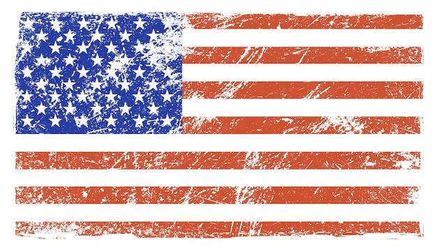 Old vintage american flag Premium Vector