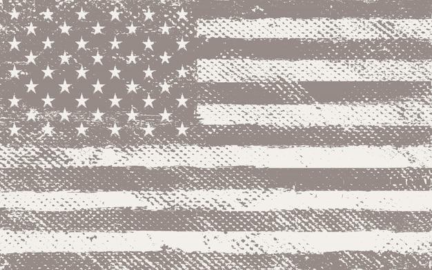 古いビンテージアメリカ国旗 Premiumベクター