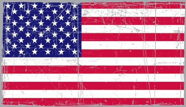 古いヴィンテージのアメリカ国旗 Premiumベクター