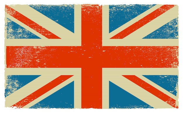 Old vintage flag of united kingdom Premium Vector