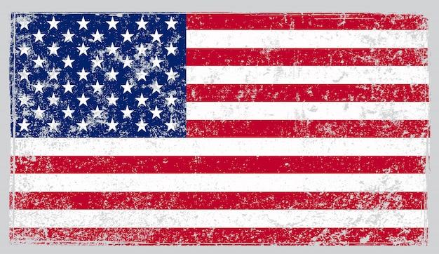 古いビンテージ米国旗 Premiumベクター