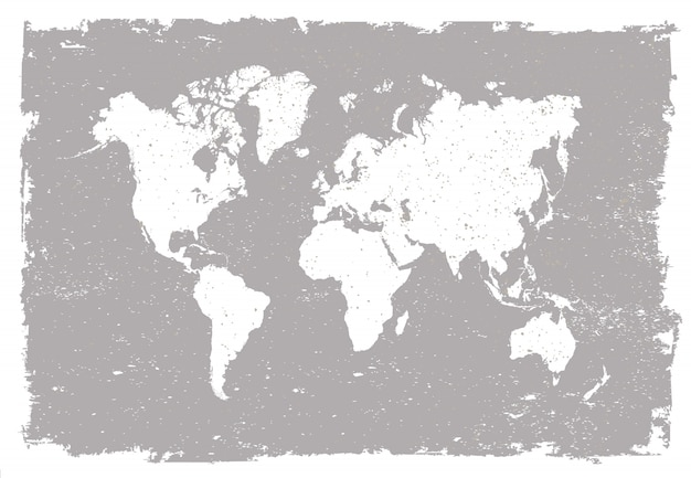 Old world map Premium Vector