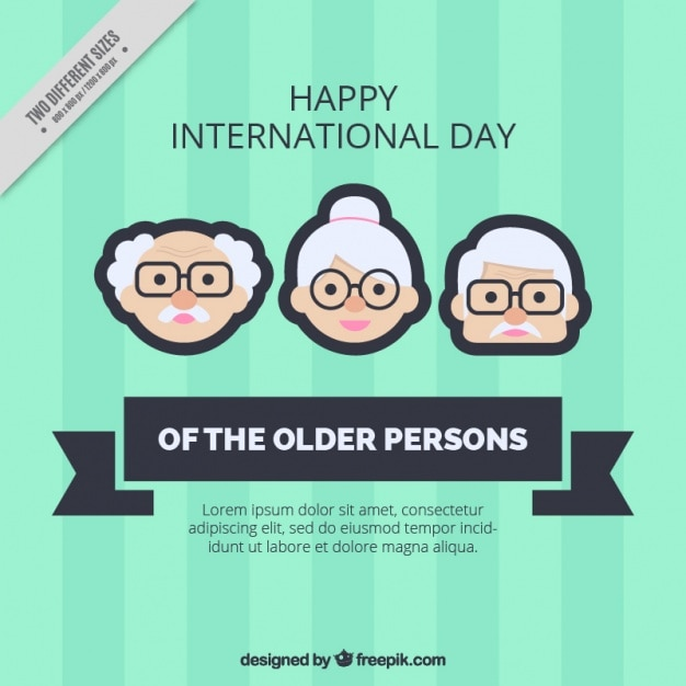 Older persons day background in green\ color