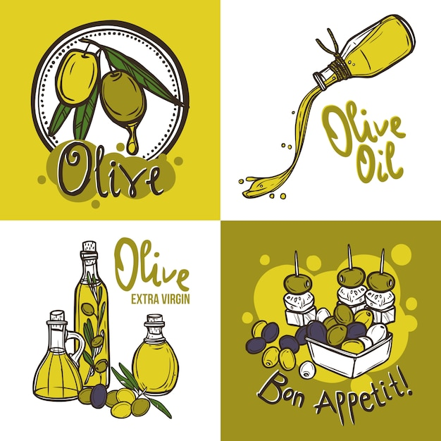 Olive design concept Free Vector