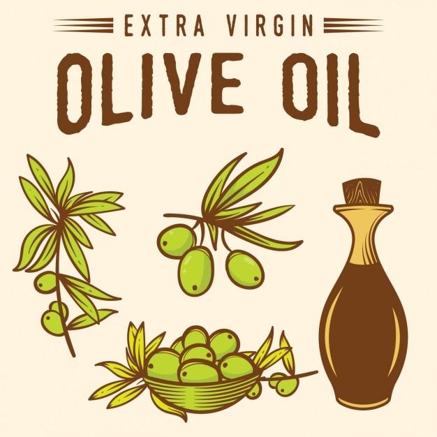 Olive oil background design Free Vector