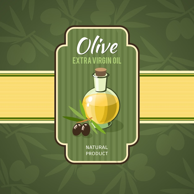 Olive oil badge Free Vector