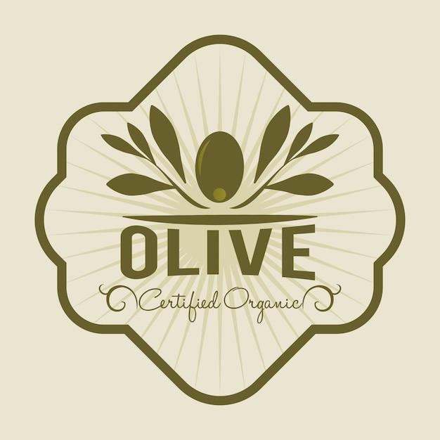 Olive oil design Premium Vector