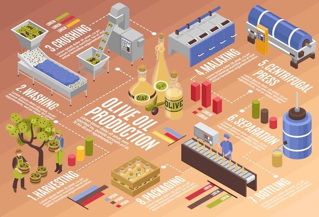 Инфографика производства оливкового масла Бесплатные векторы