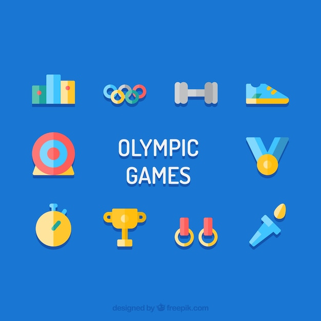Olympic elements vector Free Vector