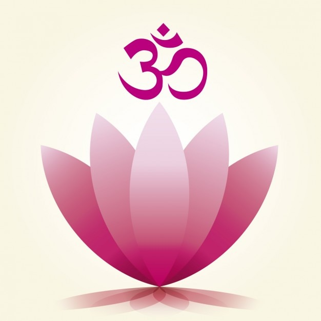 Om symbol and lotus flower vector free download om symbol and lotus flower free vector mightylinksfo