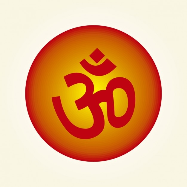 Om Symbol Inside A Circle Vector Free Download