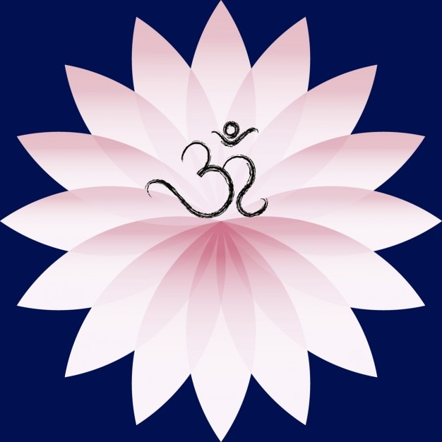 Om symbol on lotus flower vector free download om symbol on lotus flower free vector mightylinksfo