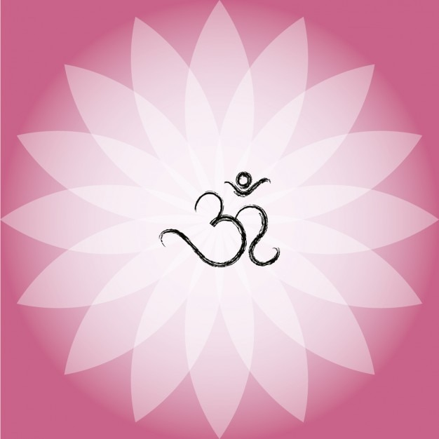 Om symbol on pink lotus flower vector free download om symbol on pink lotus flower free vector mightylinksfo
