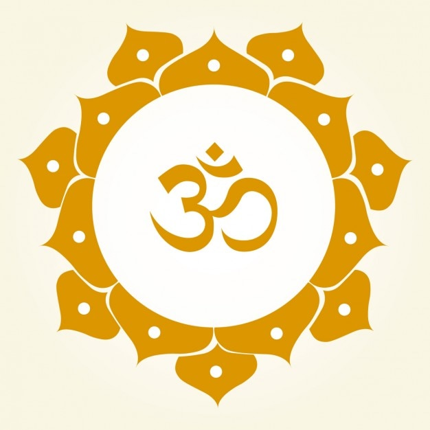 Om Symbol Ornamental Free Vector