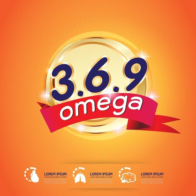 Кальций omega и витамины logo продукты для детей vector Premium векторы
