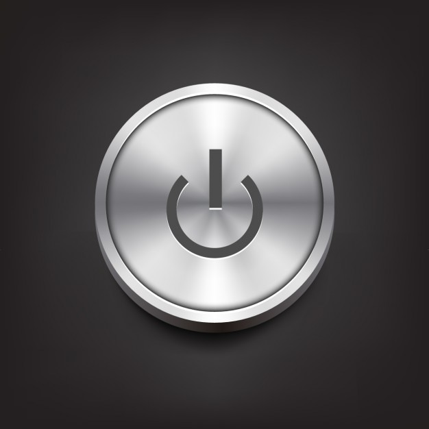 On metal button Free Vector