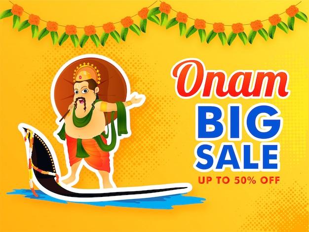 Onam festival big sale. Premium Vector