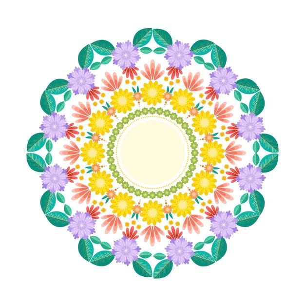 Tema di decorazione floreale onam Vettore gratuito