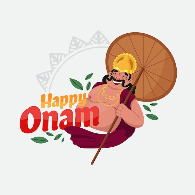 Onam illustration Free Vector