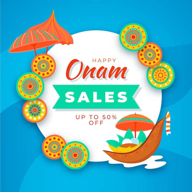 Onam sales Free Vector