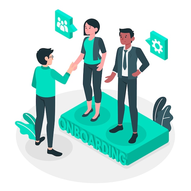 Onboarding concept illustration Free Vector