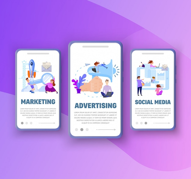Onboarding screens Premium Vector
