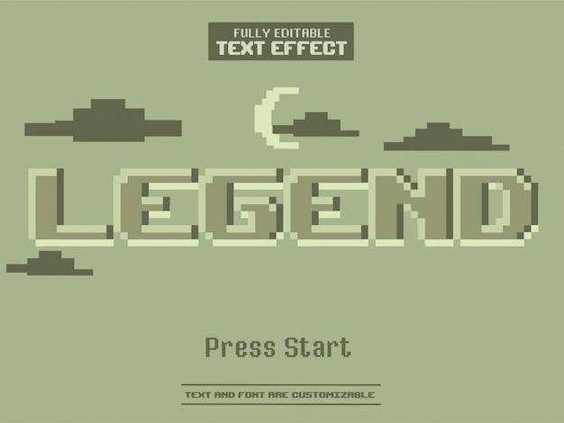 Одноцветная пиксельная игра с монохромным текстовым эффектом Premium векторы