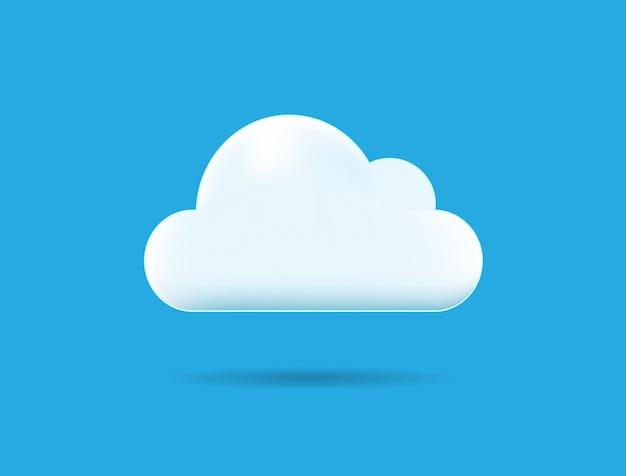 One cloud illustration isolated Premium Vector