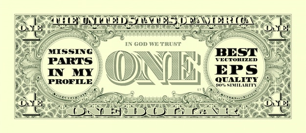 One dollar bill Premium Vector