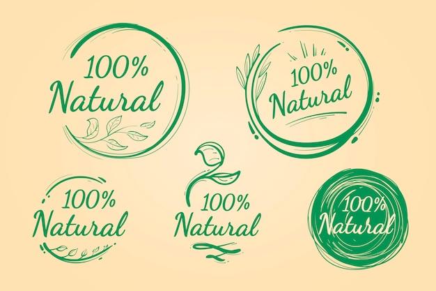 100% натуральный набор значков Бесплатные векторы