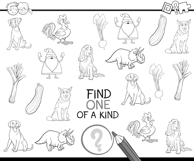 one of a kind coloring page premium vector freepik