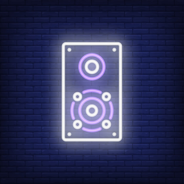 One loudspeaker neon sign Free Vector