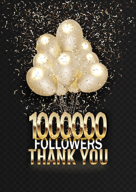 One million subscribers thanks to the text on the balls with tinsel.. Premium Vector