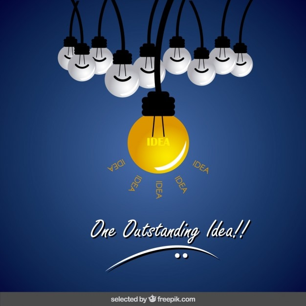One outstanding idea Free Vector